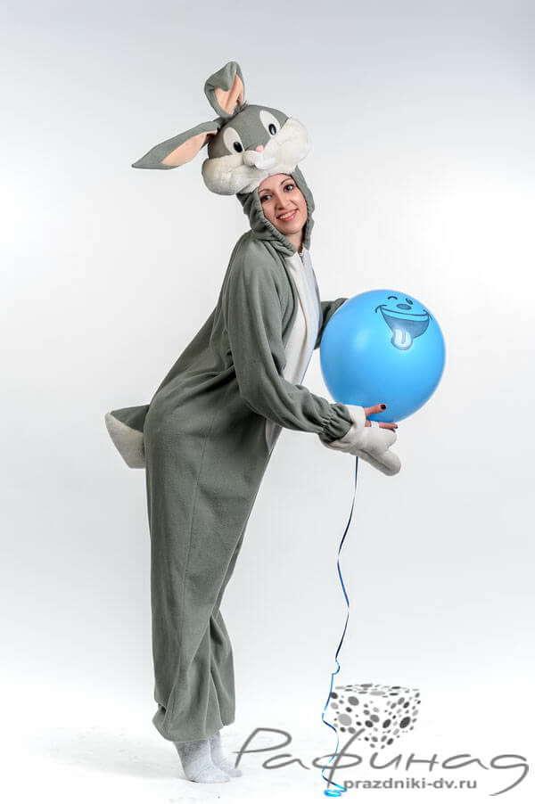Закажи аниматора в костюме Зайчика Багз Банни на день рождения ребенка.