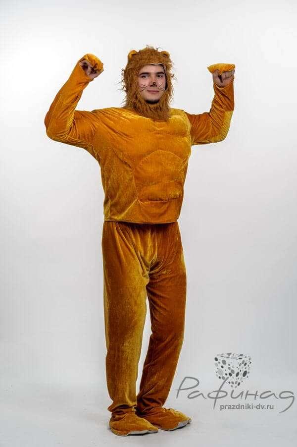 Аниматор в костюме Король Лев на день рождения ребернка.