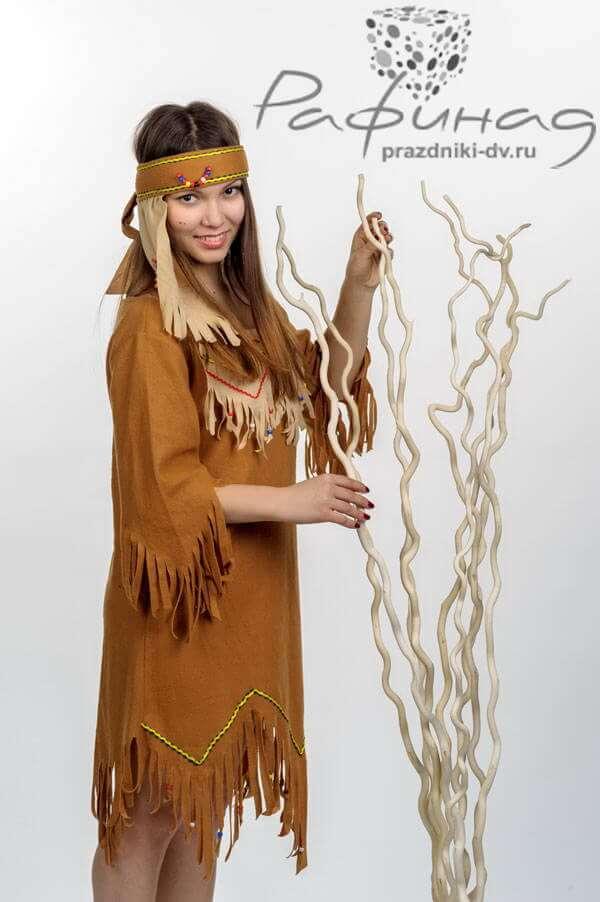 Заказать аниматора в костюме индейской женщины Пакахонтес