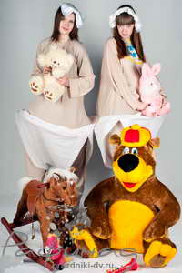 Клоуны на день рождения Хабаровск от 900 рублей.