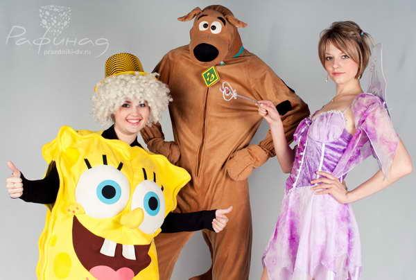 Скуби Ду, Губка Боб, фея Винкс - детские аниматоры в Хабаровске.