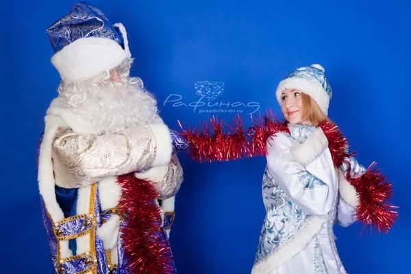 Дед мороз и снегурочка поздравления на дому сценарий